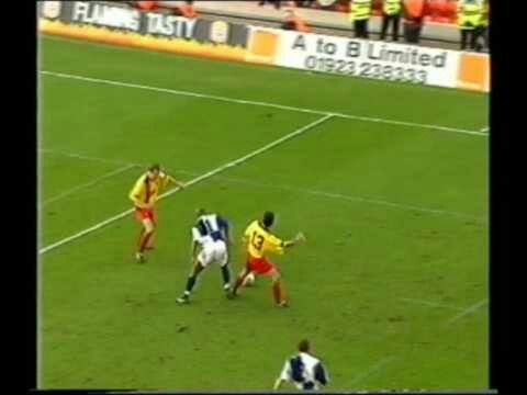 Watford 3 Bristol Rovers 2 in Feb 1998 at Vicarage Road. Rovers attack Watford once more and were unlucky to lose #Div2
