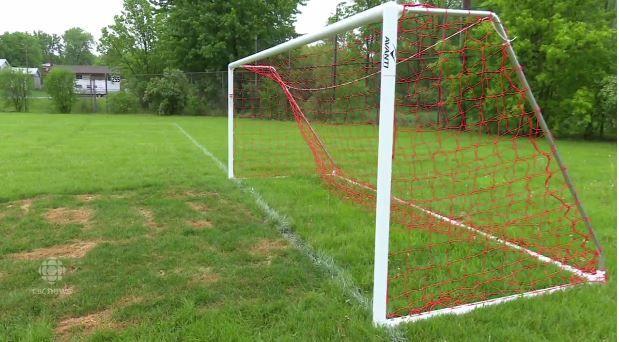 boy killed when unanchored soccer post falls on him
