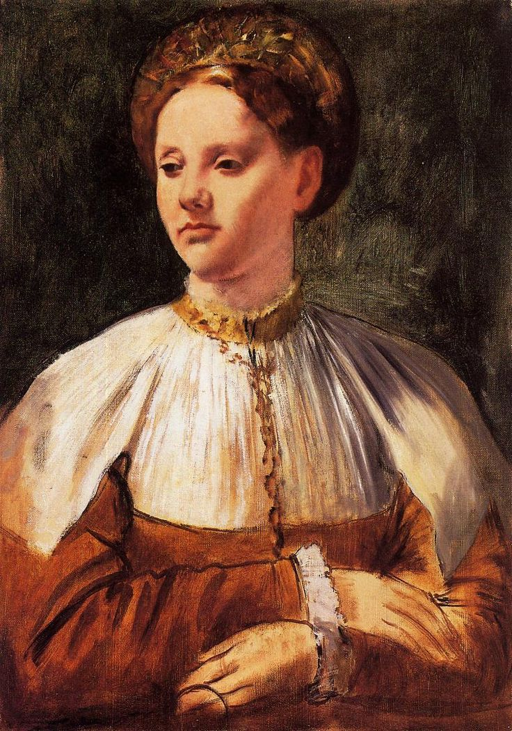 Portrait of a Young Woman (after Bacchiacca) - Edgar Degas - WikiPaintings.org
