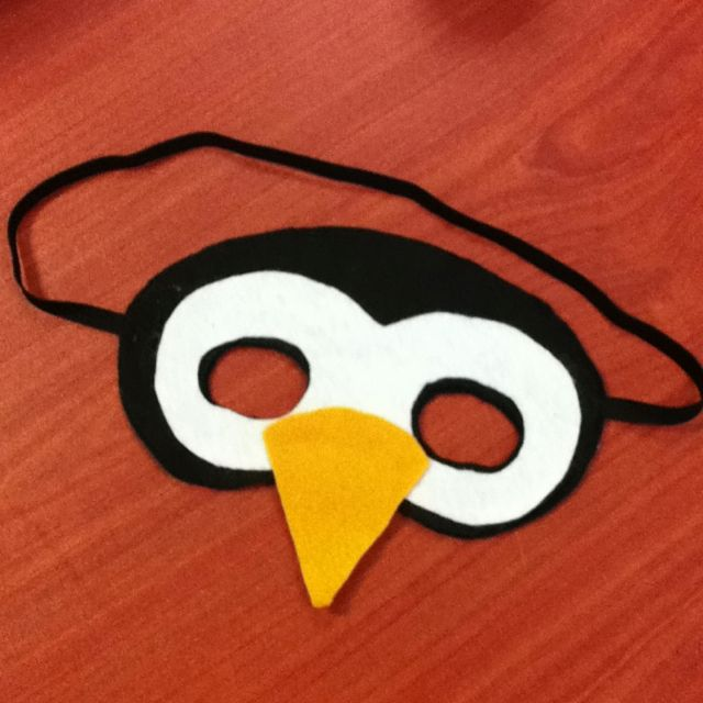 #DIY #Penguin Mask for kids! Inspired by etsy. #craft