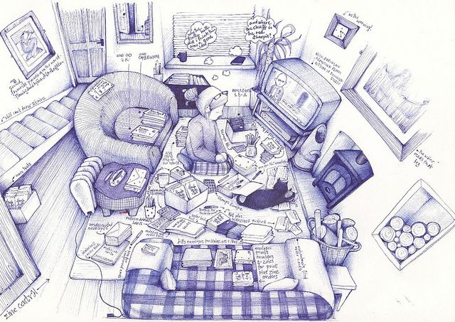 sleeping through the day by andrea joseph's illustrations, via Flickr