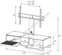 Sonorous Mood MD 8120-B-HBLK-AMZ  - TV & Mediamöbel