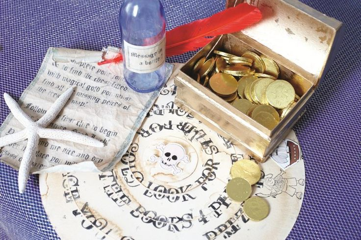 Kids love searching for hidden treasure, and this treasure hunt game is the perfect addition to any Pirate party