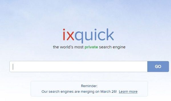 ixquick search engine merge startpage