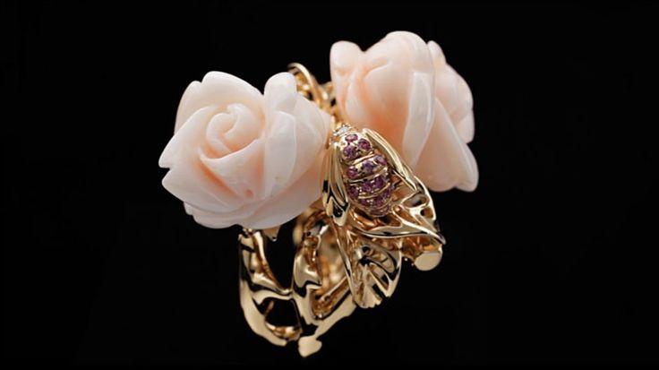 Rose dior pré catelan earrings in 18k pink gold and pink quartz - Dior