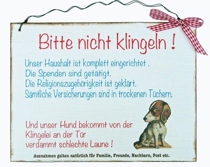 Aufkleber & Schilder - Türschild Humor - ein Designerstück von Un-Art-Tick…