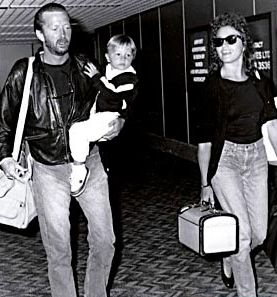 """Eric Clapton and Lory Del Santo show here with their son Conor who died in 1991 at the age of 4 1/2. Conor's death was the inspiration for the song """"Tears in Heaven"""" by Clapton."""