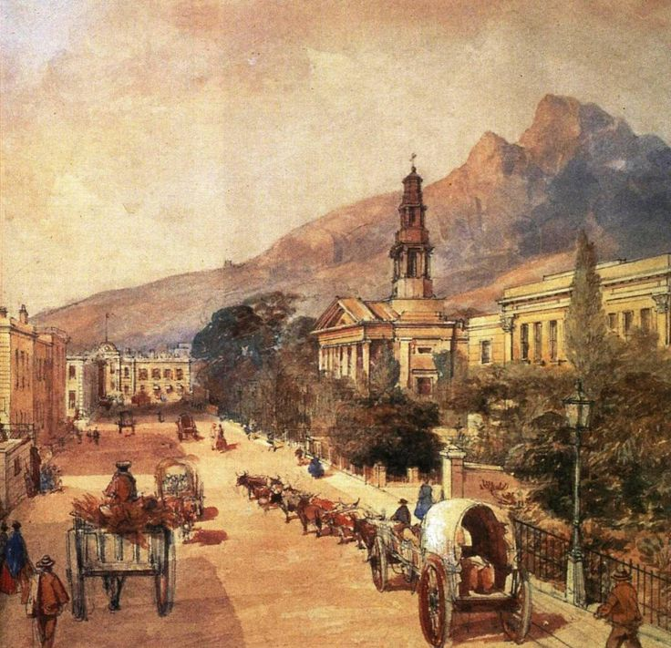 File:St Georges Cathedral Cape Town - Cape Colony 1800s - watercolour by Bowler.jpg