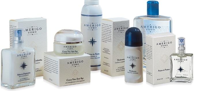 Cosmetici naturali Amerigo linea uomo made in italy