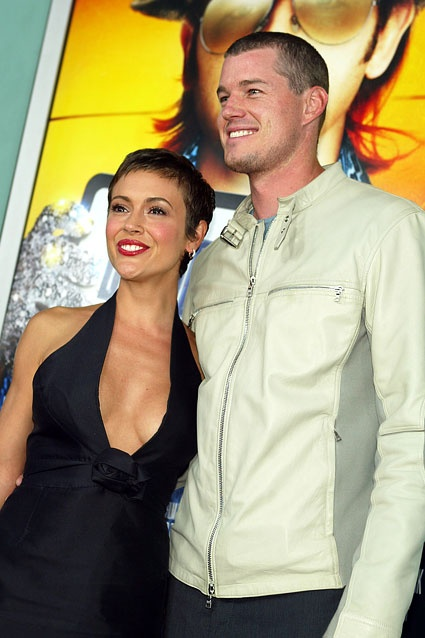 Alyssa Milano and Eric Dane met on the set of Charmed, and weren't