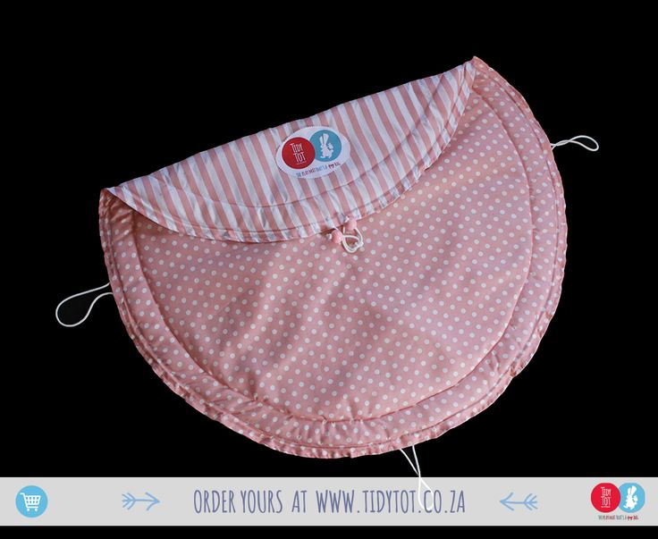 Tidy Tot -   Dots and Stripes have proved so popular that we we're delighted to include this lovely Pearl Pink TIDY TOT to our range. For the discerning Mum you cant go wrong if you chose this beautifully PADDED, made for comfort and convenience, TIDY TOT.  www.tidytot.co.za | The Play Mat That's a Toy Bag