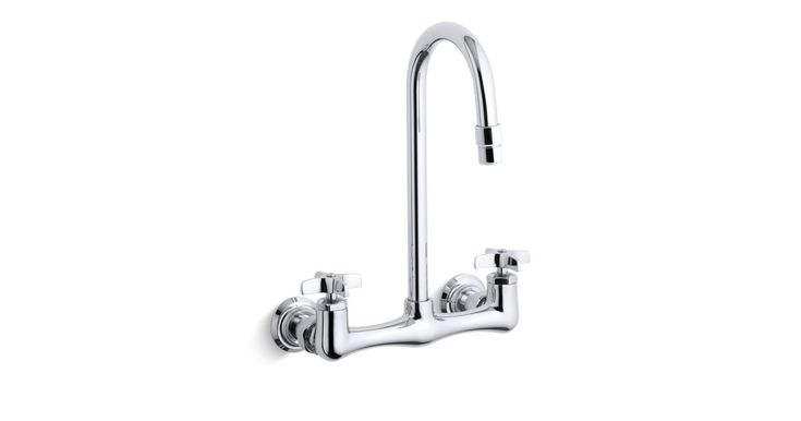 Triton® double cross handle utility sink faucet with gooseneck spout