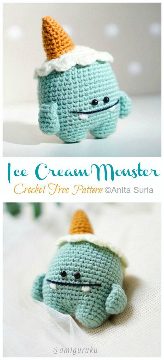 Amigurumi Ice Cream Free Pattern | 1250x570