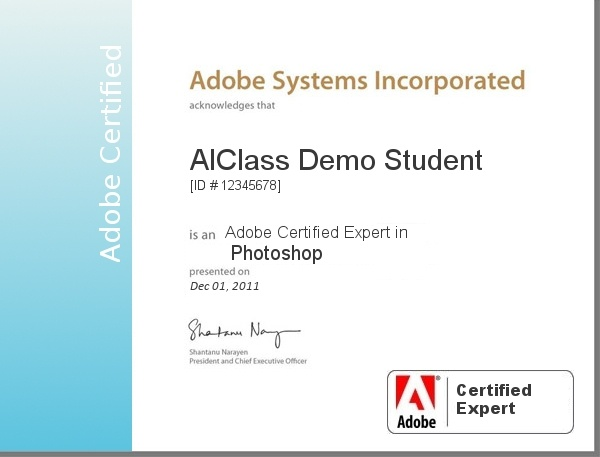 Adobe Certified Expert in Photoshop   Great Certificates ...