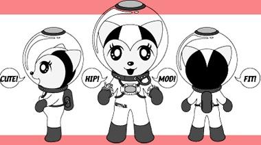 A punk cat in space.