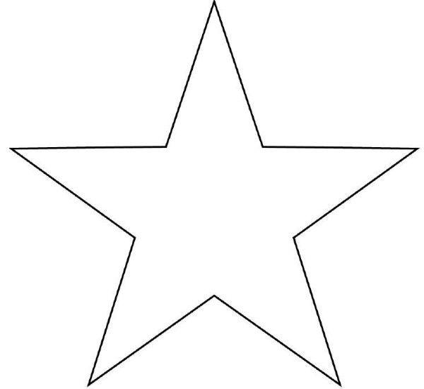Moldes De Estrelas Para Imprimir E Recortar Estrela Para