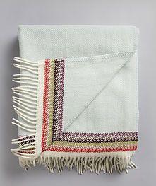 Røros Tweed Akle 100% Norwegian Wool Fringe Blanket