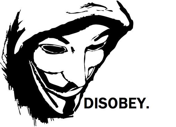 hand screened 'anonymous' mask . disobey. | Clothes for ...