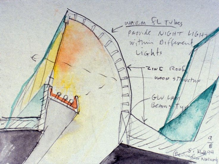 ARCHITECTURAL COLOR SKETCHES | 665 | STEVEN HOLL