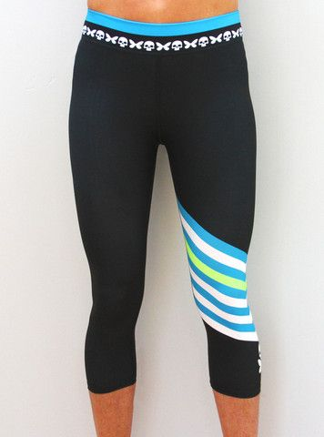 """Introducing our Chevron Capri. Perfect for your run, SUP, surf, yoga and chilling at the coffee shop. #badassisbeautiful [ oh, and by the way, it says """"bad ass is beautiful"""" down the back of the right leg!]"""