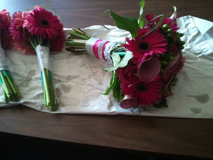 New color ideas...brides and bridemaids matching bouquets... ~ Florals by #WeddingsByNicole