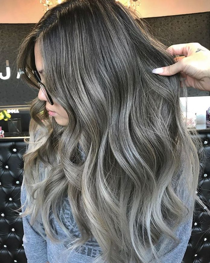 Ash Blonde Highlights On Dark Brunette With Images Brown Hair