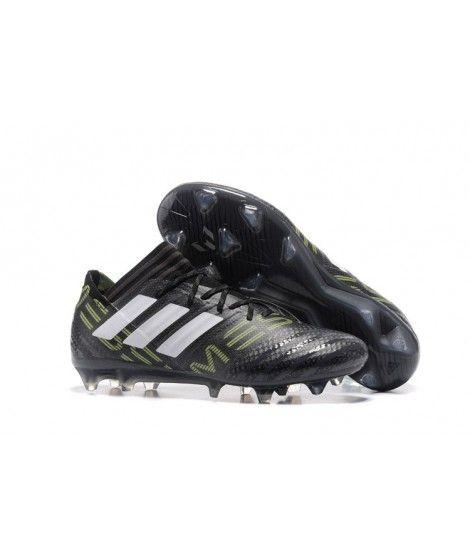 Adidas Nemeziz 17.1 FG FAST UNDERLAG ACC Svart Grön Vit Fotbollsskor