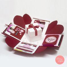 Love Explosion Box // Love Exploding Box // // by primpapershop