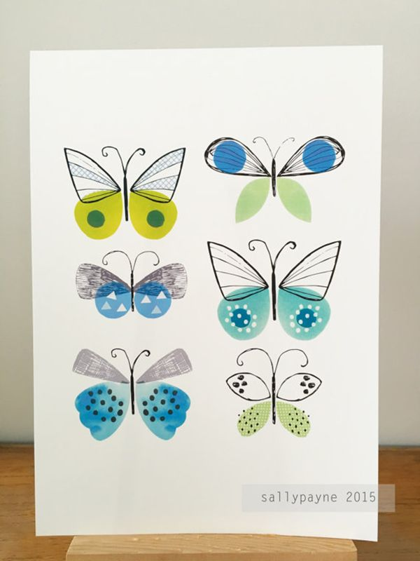 Butterfly print  by Sally Payne on Etsy