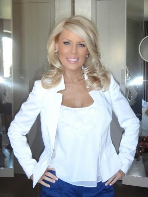 Gretchen Rossi... love her hair cut and style. would keep my color dont think I would ever go blonde.