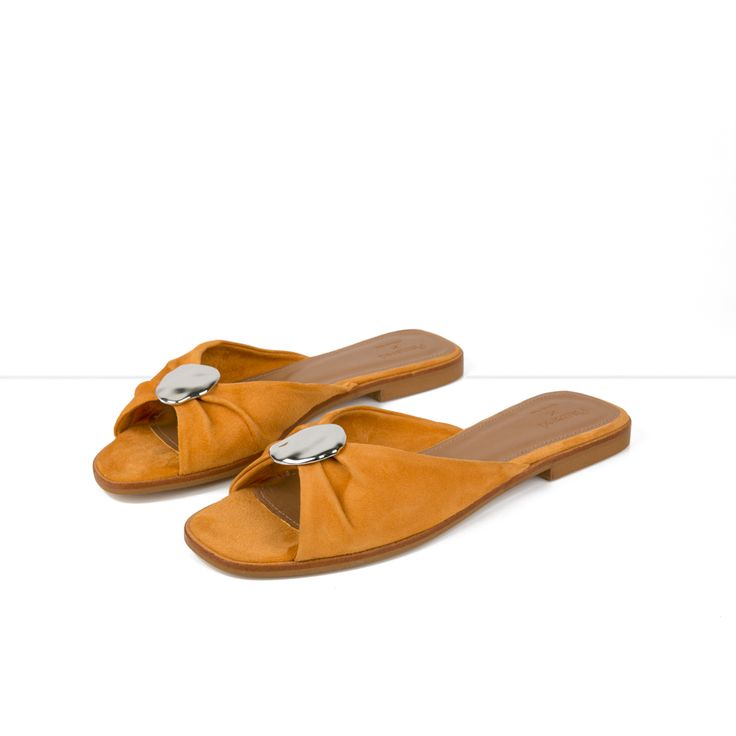 Flattered x Michaela Forni - Orange Suede Sandal