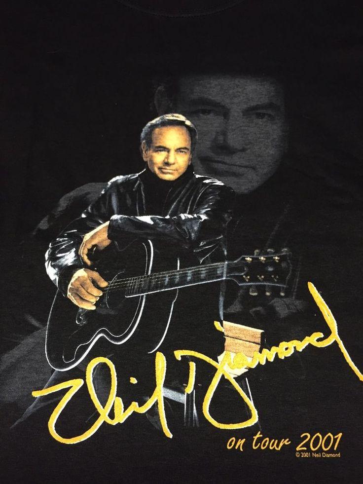 Neil Diamond 2001 Live Tour Xl T-Shirt Classic Rock Music Concert Jazz Singer | Clothing, Shoes & Accessories, Men's Clothing, T-Shirts | eBay!