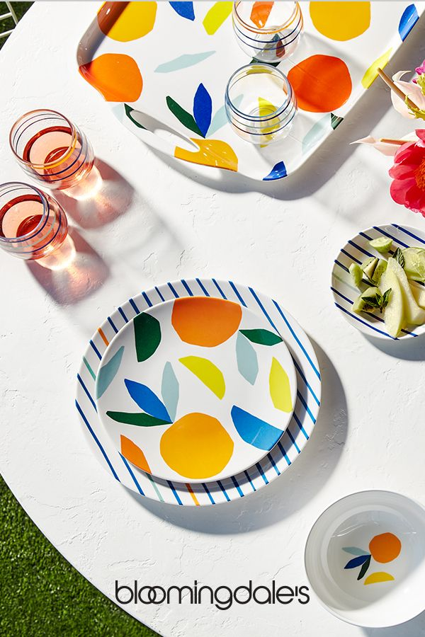 The Summer Essentials Pottery Painting Dinnerware Set Modern Outdoor Dinnerware