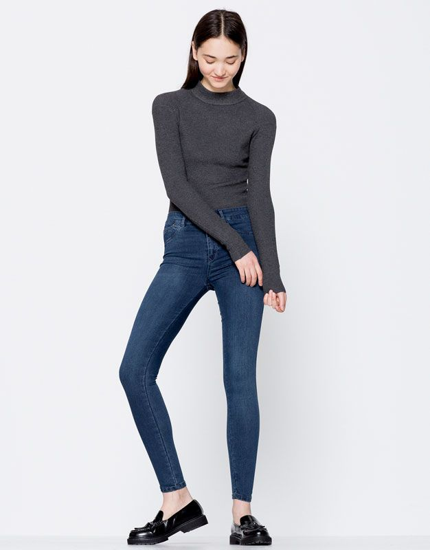 Blugi Second Skin Fit - Jeans - Îmbrăcăminte - Femei - PULL&BEAR România
