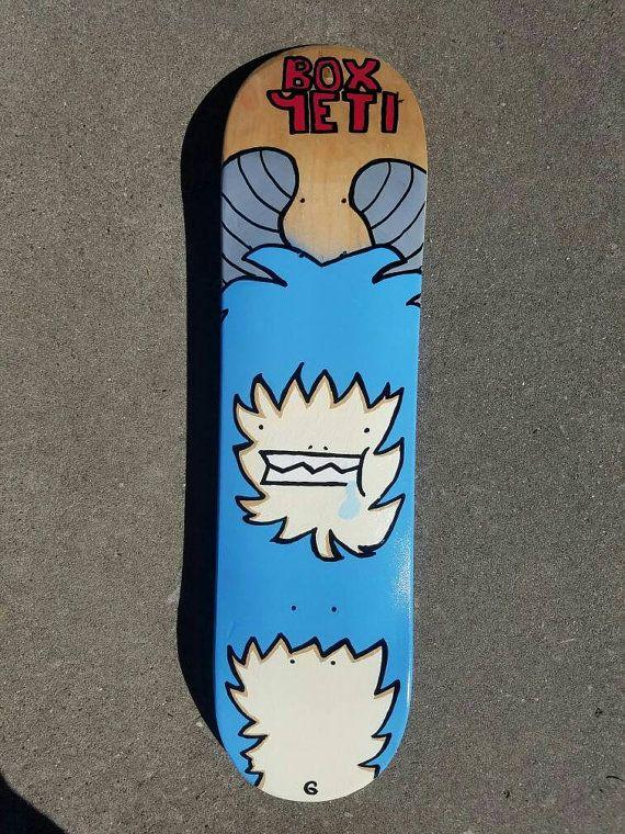 BoxYeti Custom Skateboard deck by BoxYeti on Etsy