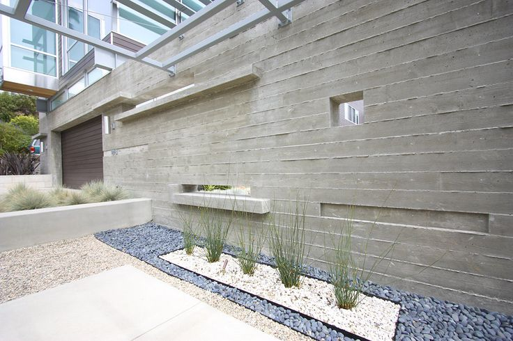 cast in place concrete planter wall - Google Search
