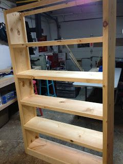 How to make your own Bookcase.  This is a 6' foot tall Bookcase for our home, but the how-to shows you how you can create your own of varying sizes. Enjoy!!  #diy #etsy
