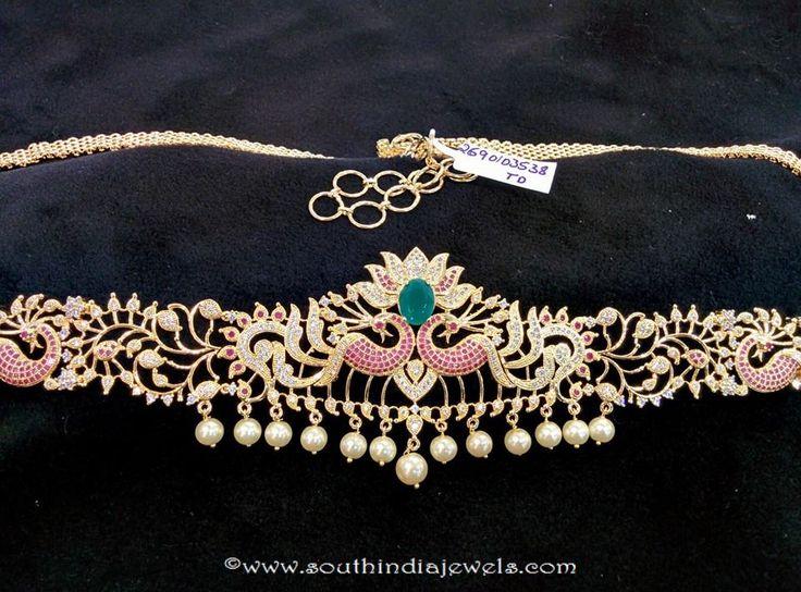 Imitation Hip Chain Designs, Imitation Ottiyanam Designs, South Indian Hip Chain Designs