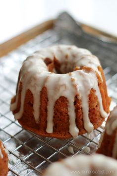 Glazed Mini Pumpkin Bundt Cakes