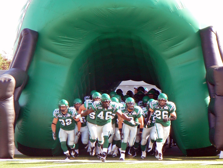 Regina is the home of the Saskatchewan Roughriders, of course! We've got that Rider pride and wear our jerseys every game day!   (Photo credit: Saskatchewan Roughriders Football Club and RROC)