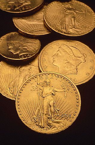 Gold Eagles and Double Eagles for the coin collector.  #Coins #GoldCoins #Silver