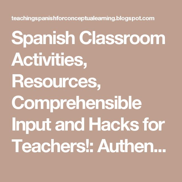 Spanish Classroom Activities, Resources, Comprehensible Input and Hacks for Teachers!: Authentic vocabulary rich commercials for your Spanish 1 Class