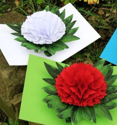 3D peony flower pop-up cards ( with free printable ) // 3D Kinyitható papír virág képeslapok ( nyomtatható sablonnal ) // Mindy -  creative craft ideas // #peony #flower #flowercraft #giftcard #springcraft #spring #card #craft #papercraft #virág #kreatív #képeslap #üdvözlőlap #tavasz