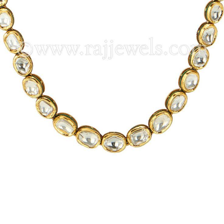 Single Strand Polki Necklace