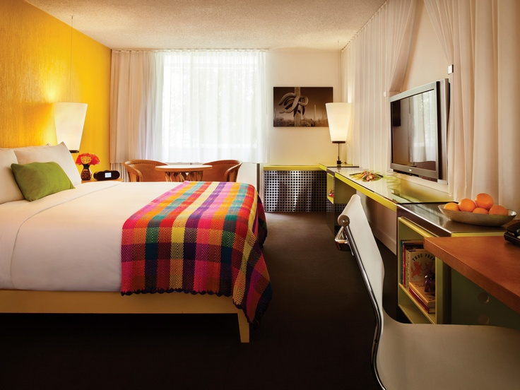 The Saguaro, Scottsdale, Arizona, is an updated 1960s motel with 194 rooms on the edge of Old Town and adjacent to the Scottsdale Center for the Performing Arts.