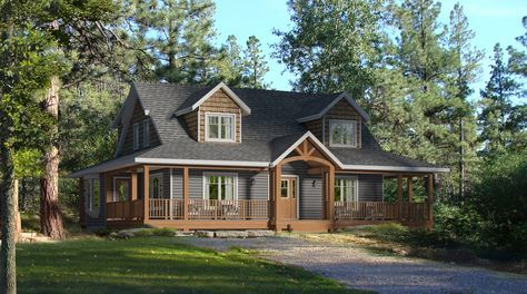 Whitetail Crossing-Beaver Homes and Cottages Almost a full wrap around deck, loft, mud room, ensuite, open concept and a great kitchen space. The only thing I'm not partial to is the stairs lead you straight out the door...
