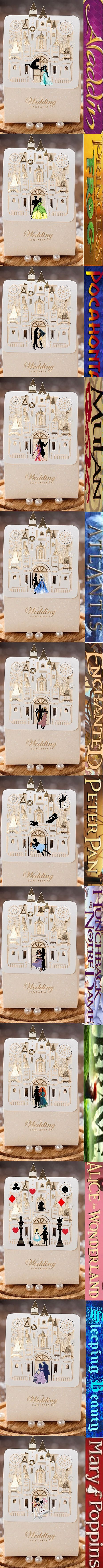 These candy boxes come in sets of 50 per order. They are part of a personalized Disney princess ongoing series. More options to come! They add the perfect inexpensive touch for your fairytale wedding table décor plus gift for your guests.  Now you can get the entire series in one order. Just leave a message for the seller for a custom order.
