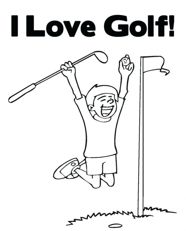 Golf Coloring Pages Sports Coloring Pages Coloring Pages For