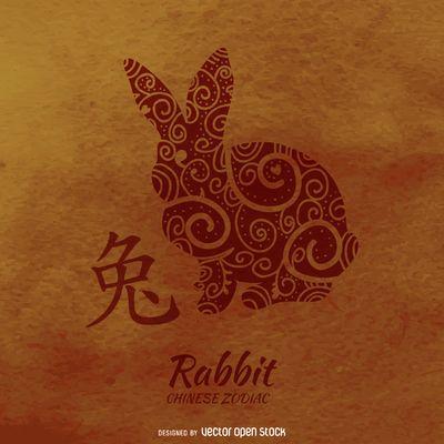 dibujo del horóscopo chino del conejo