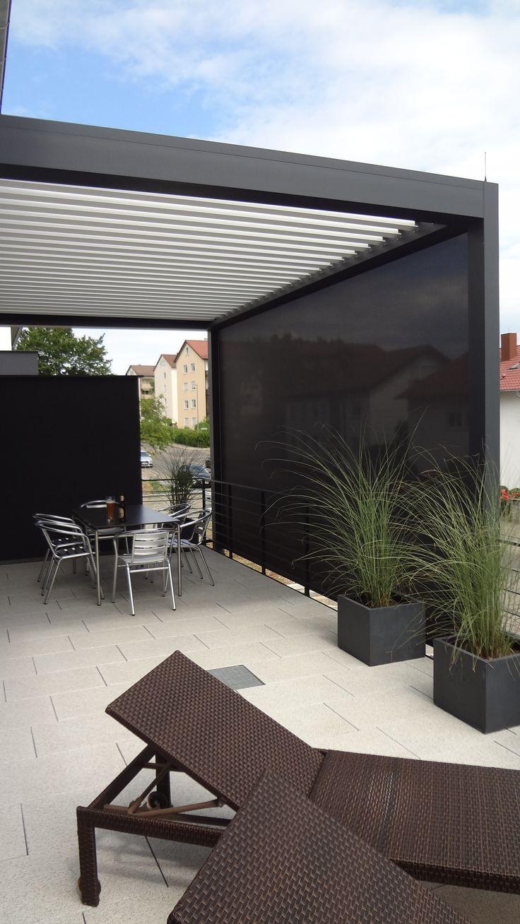 Lamellendach also Sonnen- und Regenschutz..perfekt für jede Terrasse oder Balkon......www.scaffidi.de